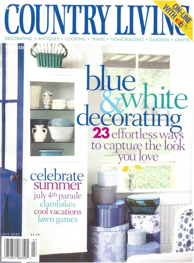 COUNTRY LIVING, BLUE&WHITE DECORATING 1